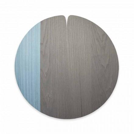 Tablemat modern realizat în Italia în lemn natural real, 4 piese - Stan