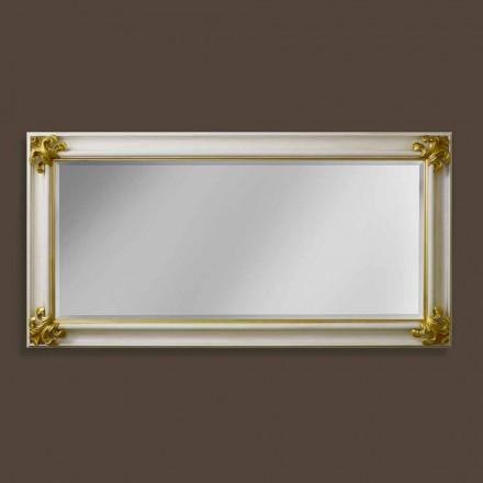 Oglinda de perete realizată manual din lemn, realizată în Italia Stefano