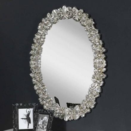 Oglindă de perete din lemn de brad din lemn fabricat în Italia Filippo