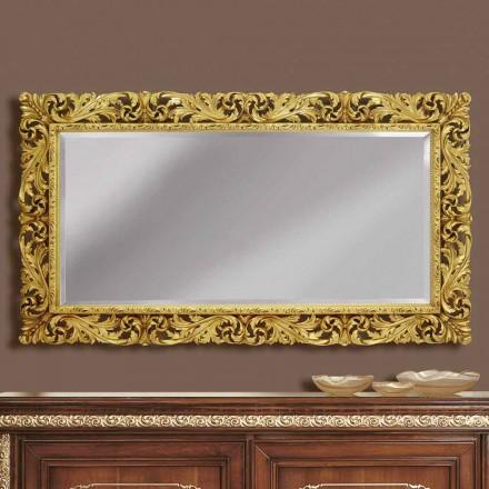 Oglinzi din lemn de perete cu linii moderne realizate manual în Italia Alex