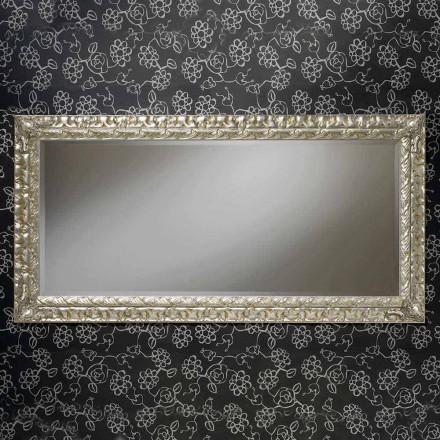 Oglinda de perete dreptunghiulară realizată manual în Italia de Nicolò