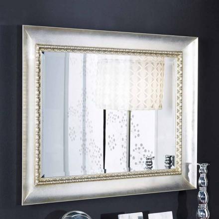 Mână făcută în Italia oglindă dreptunghiulară perete din lemn Igor