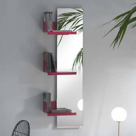 Oglindă de perete și 3 rafturi metalice de design de lux - Noelle