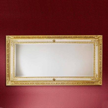 Oglinda de perete dreptunghiulară din lemn realizată în Italia Raphael