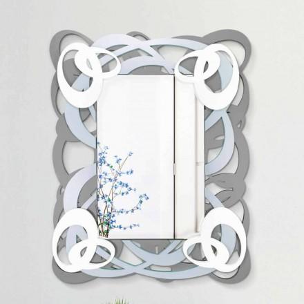 Oglindă modernă de colorat dreptunghiulară din lemn - Amalga