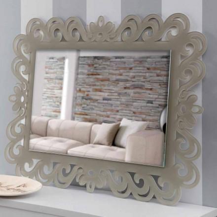 Oglindă dreptunghiulară cu design modern în Plexiglas Tortora - Selly