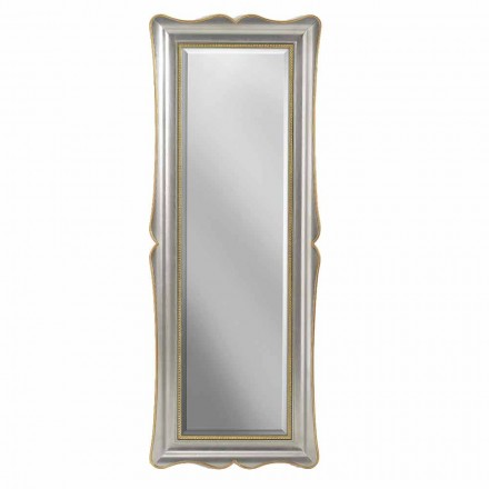 Oglinda de perete din argint, fildeș și aur din lemn, făcută în Italia Vittorio