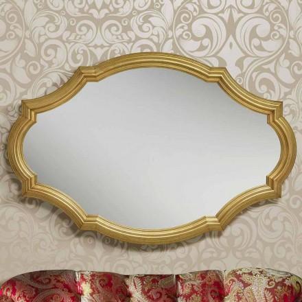 Oglinda de perete de argint sau de aur din lemn realizată în Italia Davide