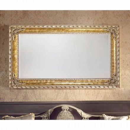 Oglinda modernă din oglindă modernă din Umbria cu linii dreptunghiulare fabricate în Italia