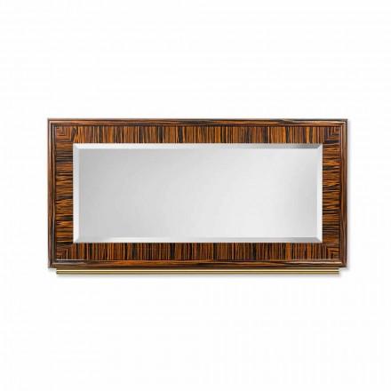 Teșită oglinda din peretele de abanos lustruit și metal Ada 1