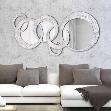 Design oglinda de perete Cercuri de Viadurini Decor