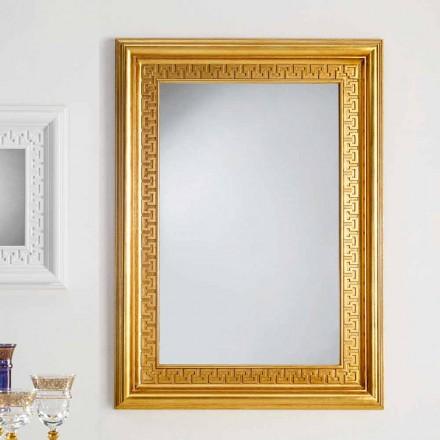 perete designer de oglinda cu lemn rama Viva, 96x132 cm