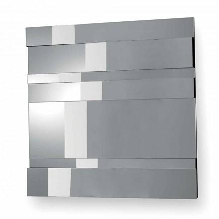 Oglindă de design modern din sticlă și metal realizată în Italia - Pallino