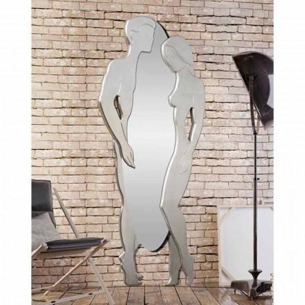 Man & Woman design modern Mdf oglinda de perete in forma de mana