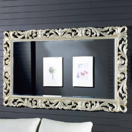 Oglinda de perete din lemn modern din aur realizat în Italia de Nicola