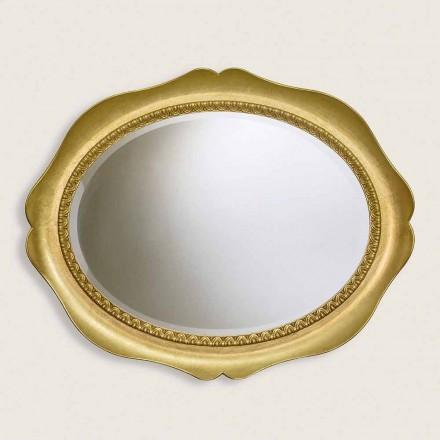 Oglinda din oțel de lemn Ayous realizată manual în Italia Franco
