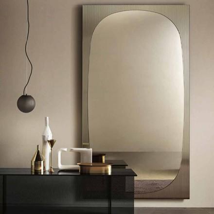 Oglinda moderna de perete cu oglinda din bronz realizata in Italia - Bandolero
