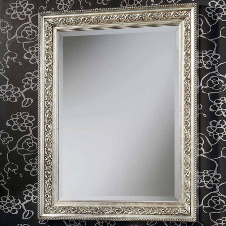 Oglinda de perete modernă din lemn realizată manual în Italia Piero
