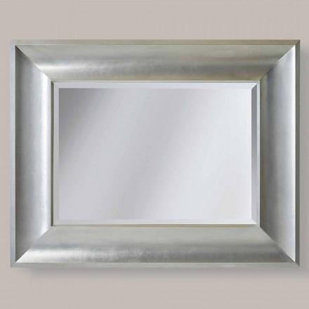 Aur, oglinda de perete de argint din ayous made din lemn Silvio Italia