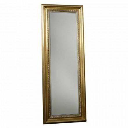 Oglinda de podea din lemn cu piedestal realizat manual din Italia Leonardo