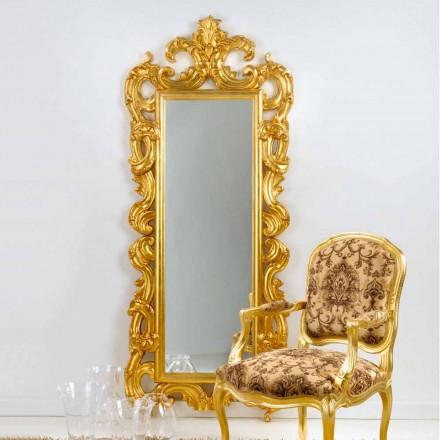 podea oglindă / perete design clasic, frunze de aur finisaj Guerin