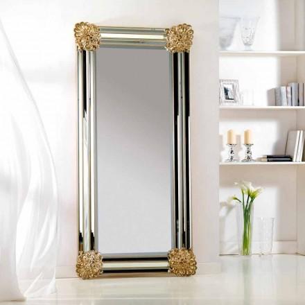 Mirror podea / proiectare perete, rama Luti lemn, 96x196 cm