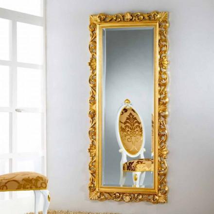 Mirror podea / perete de design cu finisaj foita de aur Mata
