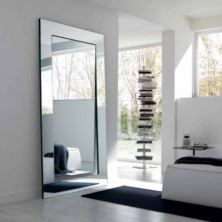 Oglindă dreptunghiulară de design modern, realizată în Italia - Salamina