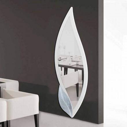 Design oglindă în formă de petale de fildeș și argint Ellen