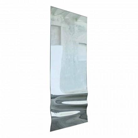 Oglindă mare în finisaj de cristal ondulat Made in Italy - Athena