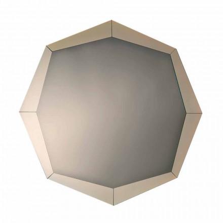 Oglindă de design în finisaj de cristal oglindit Fabricat în Italia - Bolina