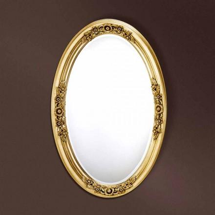 Oglinda ovală modernă realizată manual în Italia Federico