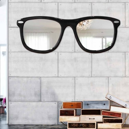 Oglindă de perete contemporană Ochelari de Viadurini Decor