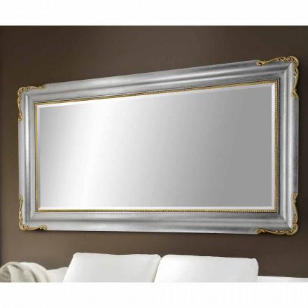 Oglinda de perete din lemn realizat manual din Italia Cristian