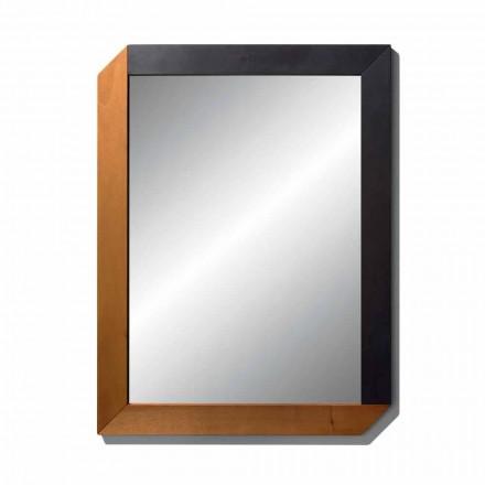Oglindă dreptunghiulară cu cadru din lemn din Made in Italy Design - Cira