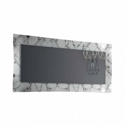 Oglindă de design dreptunghiular cu cadru din sticlă Fabricat în Italia - Eclisse