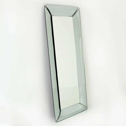 Oglindă mare dreptunghiulară din cristal de design Made in Italy - Twin