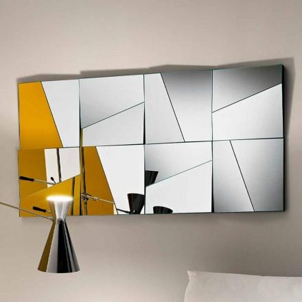Oglindă modulară de perete cu oglinzi concave și convexe realizate în Italia - Allegria