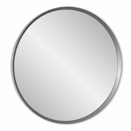 Oglindă rotundă de perete cu cadru lacat de design modern elegant - Odosso