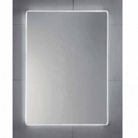 Oglindă de perete cu margini mată, iluminare cu LED, Tessa