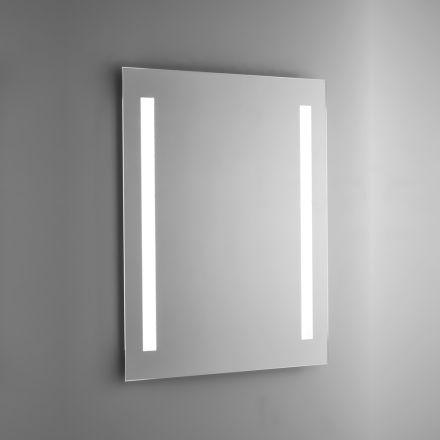 Oglindă de baie din sârmă lustruită cu iluminare din spate cu LED Made in Italy - Tony