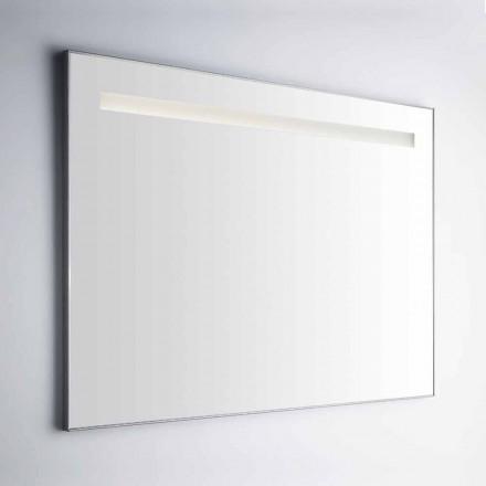Oglindă de baie de perete cu cadru din aluminiu Simil Fabricat în Italia - Tobi