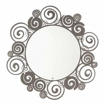 Oglindă circulară de perete de design modern din fier fabricat în Italia - Moira