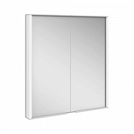 Dulap cu oglinzi din aluminiu vopsit argintiu, modern - Demon