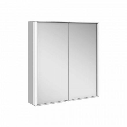 Oglindă de perete din aluminiu cu iluminare LED - Demon