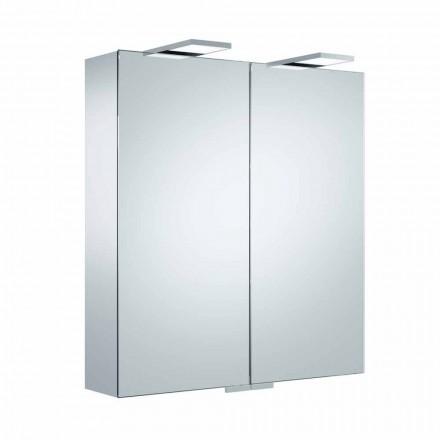Oglindă de perete de lux cu 2 uși și iluminat cu LED - clichet
