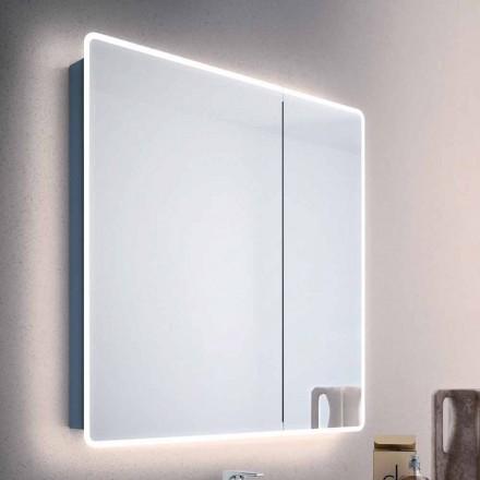 Mirror usi moderne recipient 2 baie, cu lumini LED, Valter
