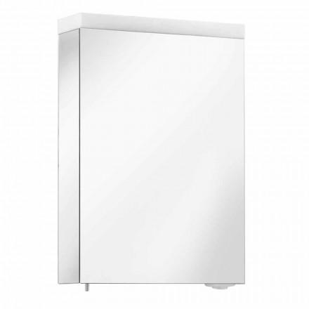 Container pentru oglinzi cu ușă articulată și iluminare cu LED, de înaltă calitate - Alfio