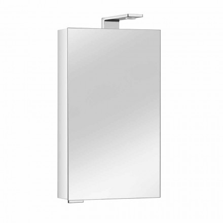 Dulap cu oglinzi cu ușă din cristal și detalii cromate, modern - Maxi