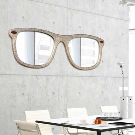 Mobilierul pe perete oglinzi în formă de ochelari decorați manual